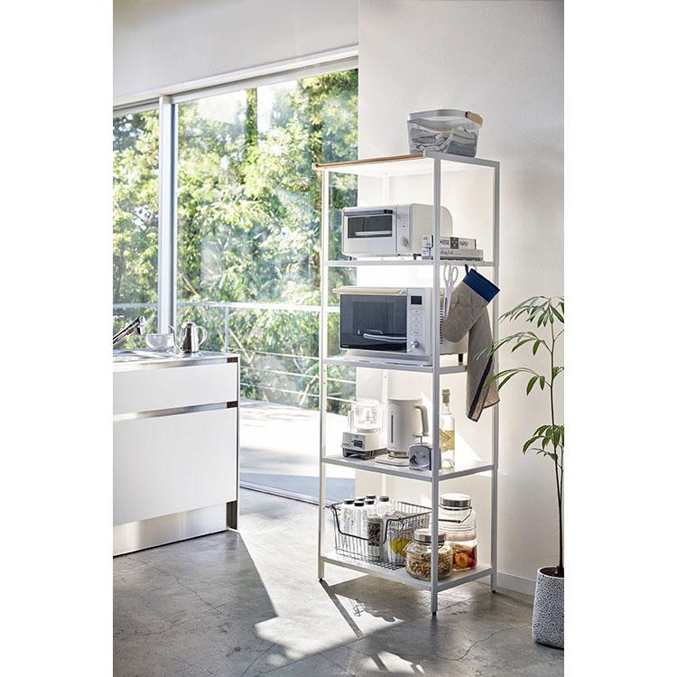 キッチンラック 5段 タワー ホワイト WH 3599