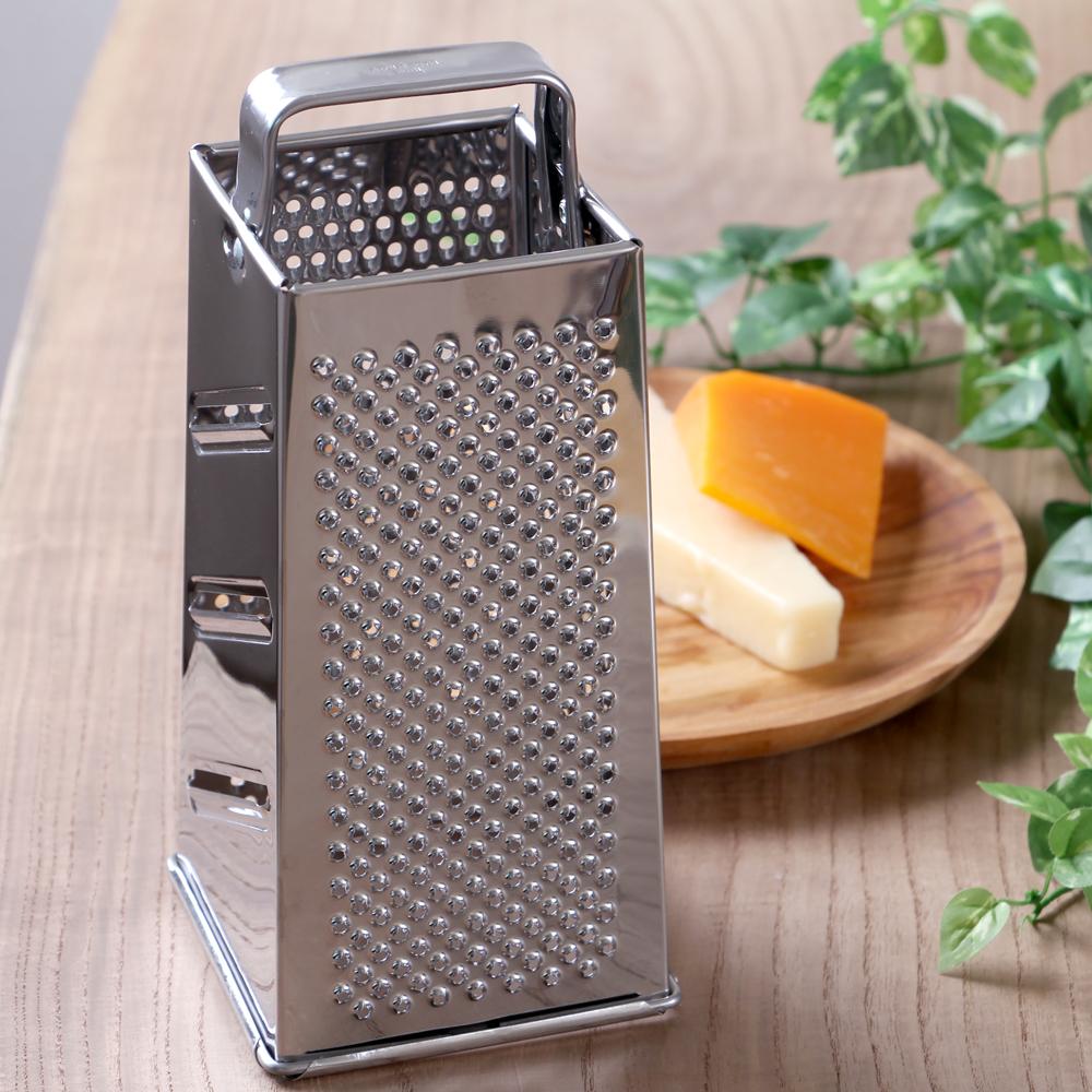 メーカー直売 これ一つで色々な削り方ができます 食洗機対応 代引き不可 ステンレス製 四面グレーターL ビアンキ 削り器 BIANCHI チーズグレーター イタリア製 おろし金