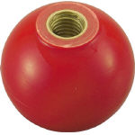 [握り玉(樹脂製)]トラスコ中山(株) TRUSCO 樹脂製握り玉 金具付赤 40XM12mm TPC40-12R 1箱(20個入)【329-1880】