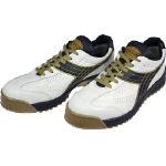 [プロテクティブスニーカー(JSAA A種認定)]ドンケル(株) ディアドラ DIADORA 安全作業靴 ピーコック 白/黒 24.0cm PC12-240 1足【388-1628】