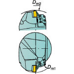 [ターニングホルダー]【送料無料】サンドビック(株) サンドビック コロマントキャプト T-Max P用HPカッティングヘッド C5-PCLNR-35060-12HP 1個【608-9666】【北海道・沖縄送料別途】【smtb-KD】