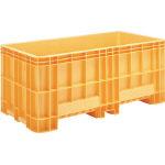 [ボックス型コンテナ]三甲(株) サンコー 超大型コンテナー ジャンボックス#1200(本体) オレンジ SK-1200-OR 1個【459-3804】【代引不可商品】【別途運賃必要なためご連絡いたします。】