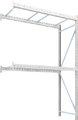 [パレットラック]トラスコ中山(株) TRUSCO パレットラック1トン用2300X1000XH3500 2段 連結 1D-35B23-10-2B 1台【459-1721】【代引不可商品】【別途運賃必要なためご連絡いたします。】