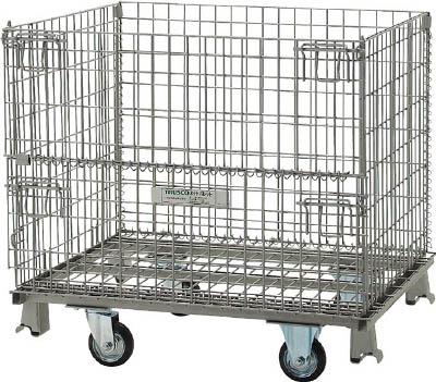 [メッシュパレット]トラスコ中山(株) TRUSCO ネットパレット車輪付 1000X800X935 500kg TNP-3NS 1台【462-4084】【代引不可商品・メーカー直送】【別途運賃必要なためご連絡いたします。】