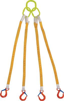 [スリング(繊維ベルト・ワイヤ)]【送料無料】大洋製器工業(株) 大洋 4本吊 インカリフティングスリング 3.2t用×1.5m 4ILS 1S(1個入)【473-0372】
