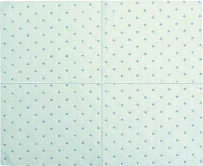 [吸収材(シートタイプ)]横浜油脂工業(株) Linda オイルキャッチングシートCF 100枚入 400×500×4mm DA11 1箱(100枚入)【469-4040】