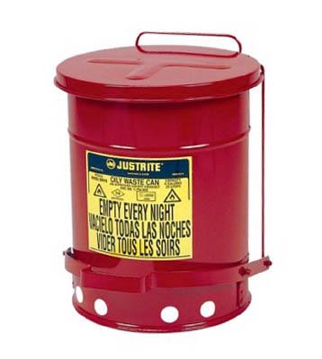 [ゴミ箱]【送料無料】ジャストライト マニファクチャリン ジャストライト オイリーウエスト缶 6ガロン J09100 1個【472-9242】