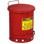 [ゴミ箱]【送料無料】ジャストライト マニファクチャリン ジャストライト オイリーウエスト缶 10ガロン J09300 1個【472-9251】