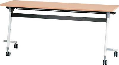 [天板跳ね上げ式会議用テーブル]アイリスチトセ(株) アイリスチトセ フライングテーブル 1500×450×700 シルクウッド CFVA10-SW 1台【471-0045】【代引不可商品】【別途運賃必要なためご連絡いたします。】