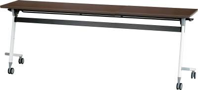 [天板跳ね上げ式会議用テーブル]アイリスチトセ(株) アイリスチトセ フライングテーブル 1800×450×700 アルビナウッド CFVA30-AW 1台【471-0096】【代引不可商品】【別途運賃必要なためご連絡いたします。】