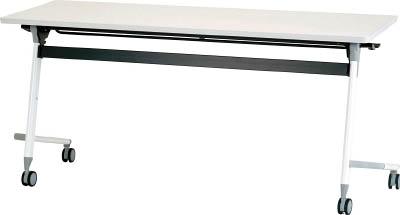 [天板跳ね上げ式会議用テーブル]アイリスチトセ(株) アイリスチトセ フライングテーブル 1800×600×700 ホワイト CFVA40-W 1台【471-0142】【代引不可商品】【別途運賃必要なためご連絡いたします。】