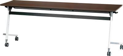 [天板跳ね上げ式会議用テーブル]アイリスチトセ(株) アイリスチトセ フライングテーブル 1800×600×700 アルビナウッド CFVA40-AW 1台【471-0126】【代引不可商品】【別途運賃必要なためご連絡いたします。】