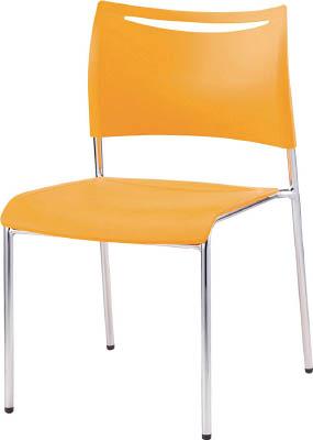 [会議用チェア]アイリスチトセ(株) アイリスチトセ ミーティングチェアLTS オレンジ 背・座樹脂 LTS-4MZ-OG 1脚【471-0479】【代引不可商品】【別途運賃必要なためご連絡いたします。】