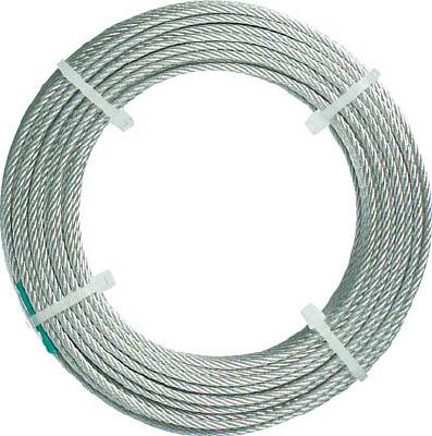 [ワイヤロープ]トラスコ中山(株) TRUSCO ステンレスワイヤロープ ナイロン被覆 Φ2.0(2.5)mmX10 CWC-2S100 1本【489-0892】