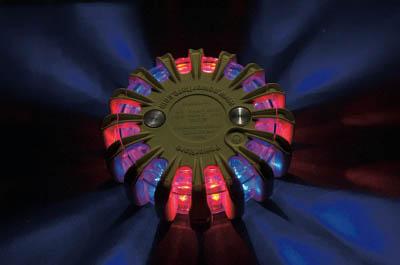 [警告灯]【送料無料】パワーフレア社 PF セーフティライト 赤・青 PF210RBY 1台【北海道・沖縄送料別途】【smtb-KD】【760-7091】