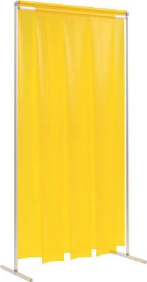 [溶接遮光フェンス]吉野(株) 吉野 クグレール 遮光用衝立のれん型1×2 キャスター無しイエロー YS-12SF-KG-Y 1台【代引不可商品・メーカー直送】【別途運賃必要なためご連絡いたします。】【768-4916】