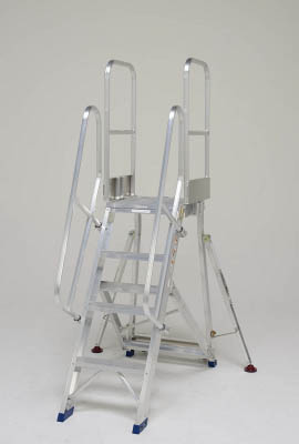 [折りたたみ式足場台用オプション](株)ピカコーポレイション ピカ 折りたたみ式作業台 階段両手すり天場二方 DXR-TE1 1S【代引不可商品】【別途運賃必要なためご連絡いたします。】 【496-3831】