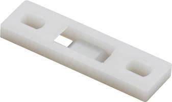 [ケーブル固定具]パンドウイットコーポレーション パンドウイット 固定具 マルチタイプレート MTP1H-E6-C 1袋(100個)【497-3747】