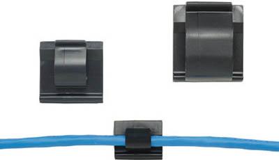 [ケーブル固定具]パンドウイットコーポレーション パンドウイット 固定具 コードクリップ アクリル系粘着テープ付 耐候性黒 ACC62-AT-C0 1袋(100個)【731-1648】