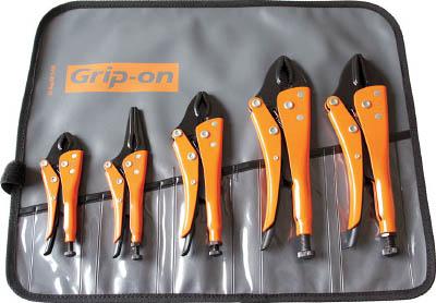 [グリッププライヤー]GRIP-ON社 GRIP-ON グリッププライヤーセット BK-SET5 1S【752-1707】