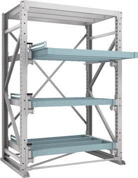 [金型収納ラック]トラスコ中山(株) TRUSCO スライダーラック スライド4段 スチール板無し 連結 NSHS-24-4R 1台【287-0088】【代引不可商品】【別途運賃必要なためご連絡いたします。】