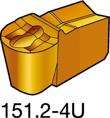 [ターニングチップ]【送料無料】サンドビック(株) サンドビック T-Max Q-カット 突切り・溝入れチップ 525 CMT N151.2-200-20-4U 10個【572-4104】【代引不可商品】【北海道・沖縄送料別途】【smtb-KD】