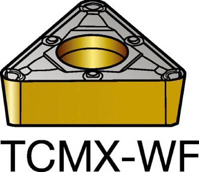 [ターニングチップ]サンドビック(株) サンドビック コロターン107 旋削用ポジ・チップ 5015 CMT TCMX 09 02 04-WF 10個【579-4081】