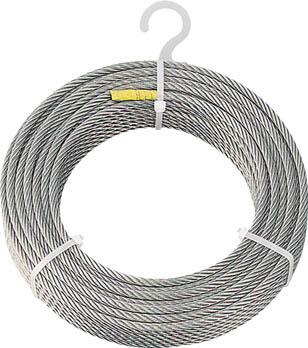[ワイヤロープ]トラスコ中山(株) TRUSCO ステンレスワイヤロープ Φ8.0mmX20m CWS-8S20 1本【818-8164】