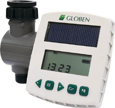 [自動散水システム]グローベン(株) グローベン 自動散水システム太陽光発電式簡易コントローラーソラクア C10SL001 1台【819-9622】【代引不可商品】【別途運賃必要なためご連絡いたします。】