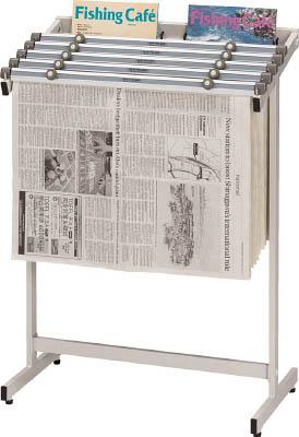 [新聞ラック](株)ノーリツイス ノーリツ 新聞架セット (新聞バサミ5本付) N-560S-WG 1組【819-9684】【代引不可商品】【別途運賃必要なためご連絡いたします。】