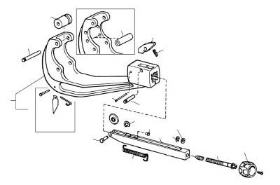 [チューブカッター用パーツ]Ridge Tool Compan RIDGE スライド F/154.156 32047 1個【788-1991】