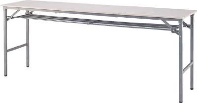 [折りたたみ式会議用テーブル]アイリスチトセ(株) アイリスチトセ 折畳みテーブル 樹脂天板 下棚付 1500×450 アイボリー BTS-1545T-PP 1台【790-2069】【代引不可商品】【別途運賃必要なためご連絡いたします。】