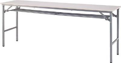 [折りたたみ式会議用テーブル]アイリスチトセ(株) アイリスチトセ 折畳みテーブル 樹脂天板 下棚付 1800×450 アイボリー BTS-1845T-PP 1台【790-2085】【代引不可商品】【別途運賃必要なためご連絡いたします。】