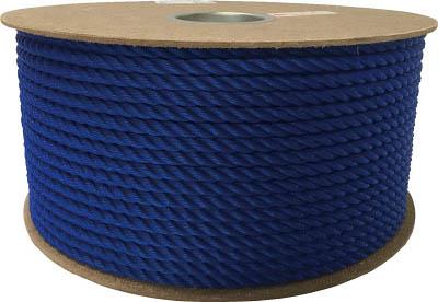 [ロープ(ポリエチレン)](株)ユタカメイク ユタカ ポリエチレンロープドラム巻 9mm×150m ブルー PRE-52 1巻【794-7607】