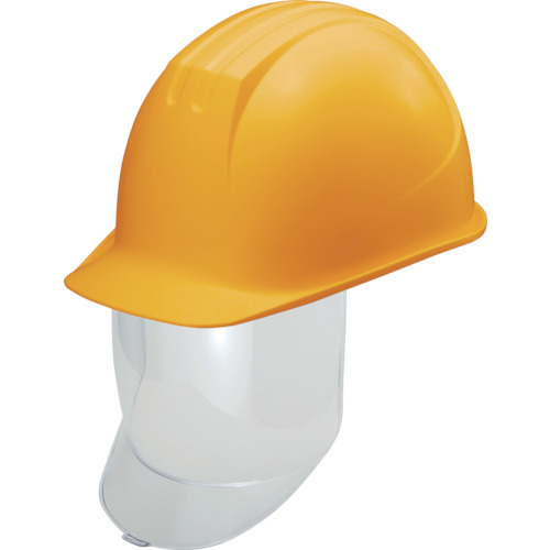 [シールド面付ヘルメット](株)谷沢製作所 タニザワ 大型シールド面付ヘルメット 溝付 イエロー 0162SDY2J 1個【836-3962】