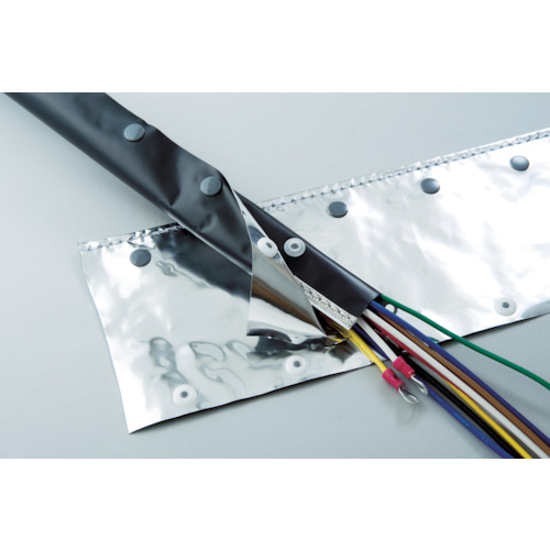[電線保護チューブ]日本ジッパーチュービング(株) ZTJ 電磁波シールド チューブ・ホックタイプ φ100 OTF100 1巻【855-8820】【代引不可商品】【別途運賃必要なためご連絡いたします。】