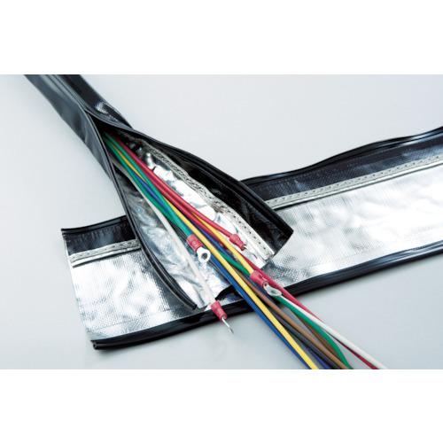 [電線保護チューブ]日本ジッパーチュービング(株) ZTJ 電磁波シールド チューブ・ジッパータイプ φ70 SHNFAR70 1巻【855-8826】【代引不可商品】【別途運賃必要なためご連絡いたします。】