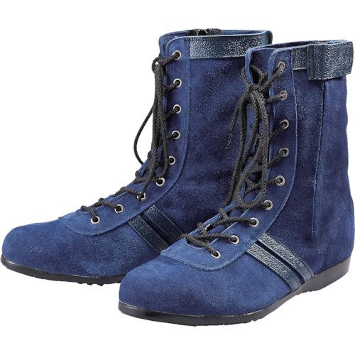 [安全靴(長編上靴・JIS規格品)]青木産業(株) 青木安全靴 高所作業用安全靴 WAZA-BLUE-ONE-24.0cm WAZABLUEONE24.0 1足【855-9186】