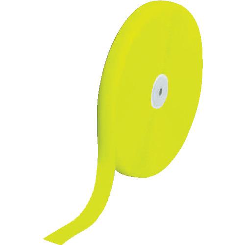 [結束テープ]トラスコ中山(株) TRUSCO マジックテープ 縫製用B側 50mm×25m 蛍光イエロー TMBH5025LY 1巻【856-0773】