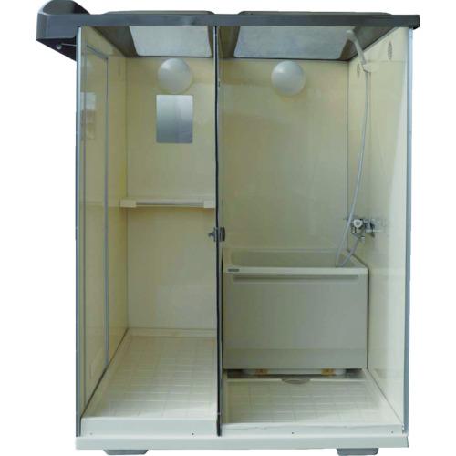 [バスシャワーユニット]日野興業(株) 日野 屋外用バスシャワー 浴槽付 NB1515G 1台【859-0135】【代引不可商品】【別途運賃必要なためご連絡いたします。】