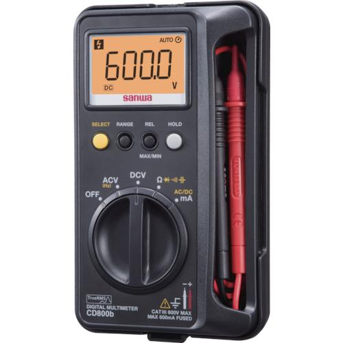 [デジタルテスタ]三和電気計器(株) SANWA デジタルマルチメータ CD800B 1台【859-7639】