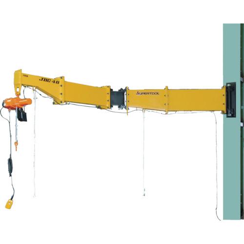 [ジブクレーン(柱取付式)](株)スーパーツール スーパー 二速電動チェーンブロック付ジブクレーン 溶接型・柱取付式 JBCT2530H 1台【114-1153】【別途運賃必要なためご連絡いたします。】
