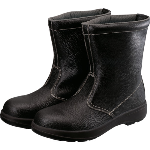 [安全靴(長編上靴・JIS規格品)](株)シモン シモン 2層ウレタン底安全半長靴 26.5cm ブラック AW44BK-26.5 1足【114-1853】