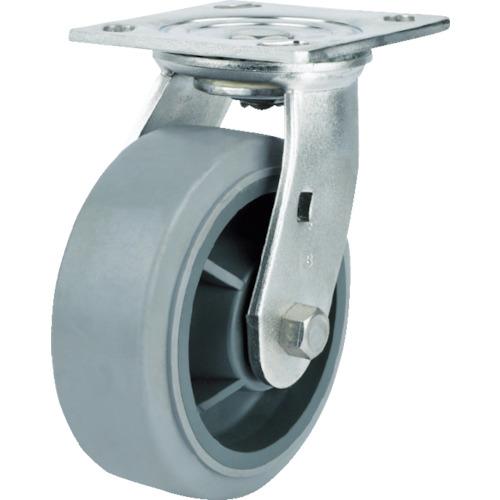 [プレート式ステンレスキャスター(ウレタン車)]SAMSONG CASTER SAMSONG ステンレスキャスター 自在 エラストマー 150mm TP6760-01-MIR 1個【114-3151】
