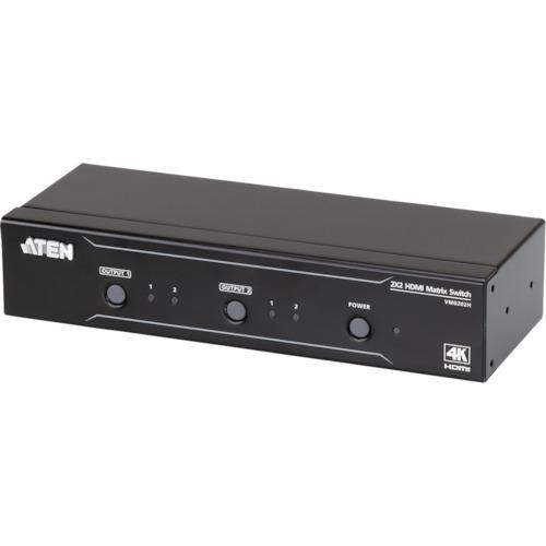[セレクタスイッチ]【送料無料】ATENジャパン(株) ATEN マトリックスビデオ切替器 HDMI / 2入力 / 2出力 / 4K対応 VM0202H 1台【115-2241】【北海道・沖縄送料別途】【smtb-KD】