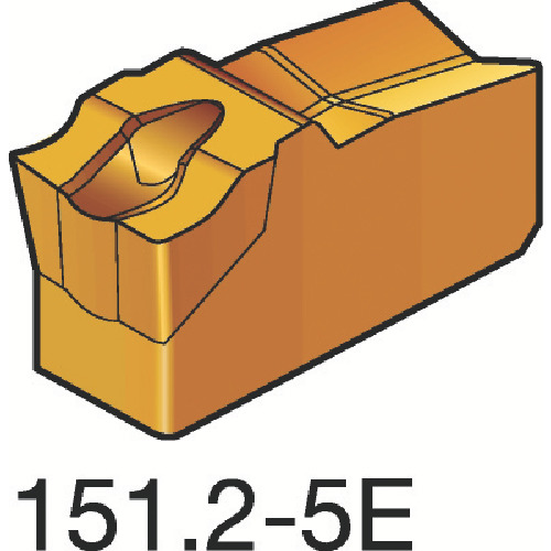 【送料無料】[ターニングチップ]サンドビック(株) サンドビック T-Max Q-カット 突切り・溝入れチップ H13A N151.2-200-5E 10個【154-9812】【北海道・沖縄送料別途】【smtb-KD】