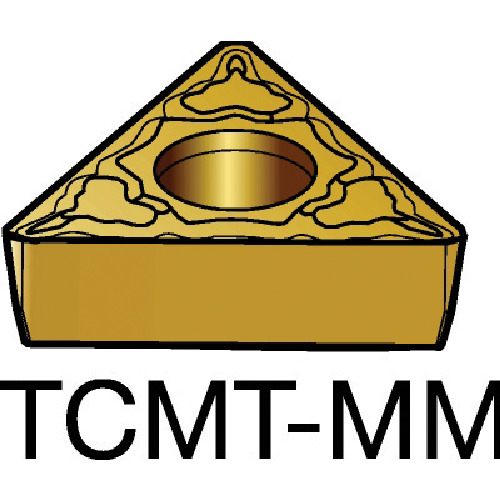 [ターニングチップ]サンドビック(株) サンドビック コロターン107 旋削用ポジ・チップ 2025 TCMT 10個【605-7420】