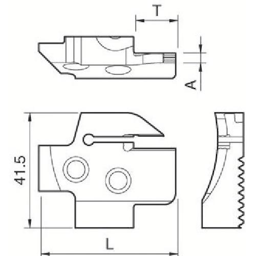 [ターニングホルダー]京セラ(株) 京セラ 溝入れ用ホルダ KGDFR-65-3B-C 1個【648-6461】