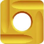 [エアベベラー用チップ]【送料無料】富士元工業(株) 富士元 フェイス加工用Nタイプ精密級チップ 超硬M種 TiN COAT N43GUR 12個【796-5907】【代引不可商品】【北海道・沖縄送料別途】【smtb-KD】