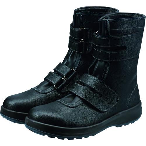 [安全靴(長編上靴・JIS規格品)](株)シモン シモン 安全靴 長編上靴マジック式 SS38黒 23.5cm SS38-23.5 1足【368-3095】